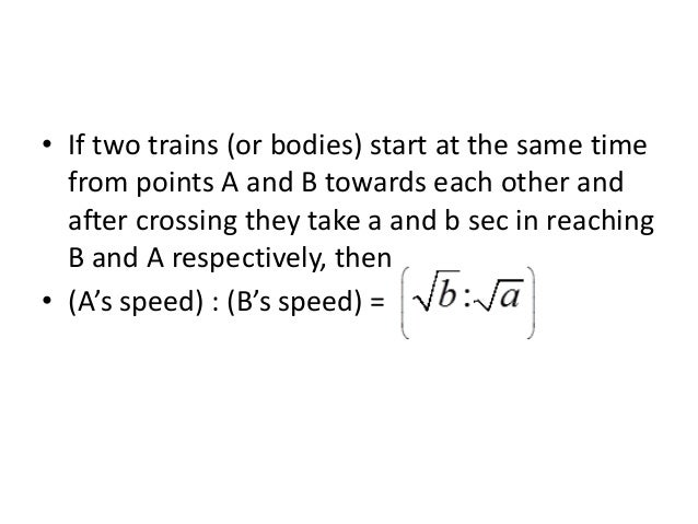 • Time of rest per hour = Difference in average speed Speed without stoppage Example 7. Without stoppage a train travels a...