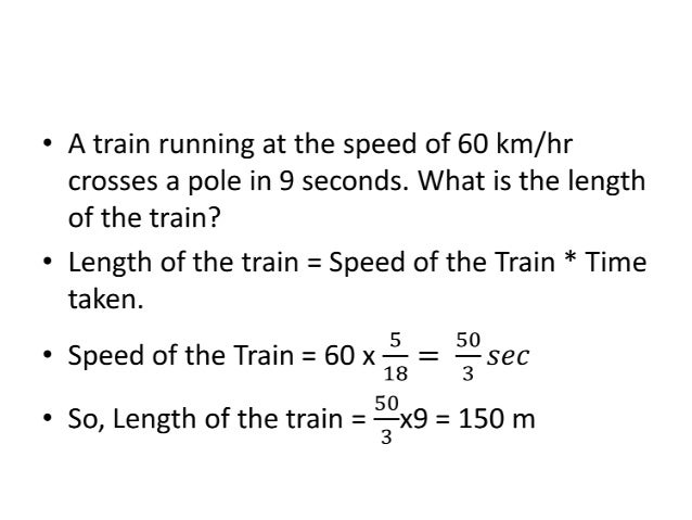 Time Taken A train of length 300m travels at a speed of 36 kmph. In how many seconds does it cross a bridge of length 700m...