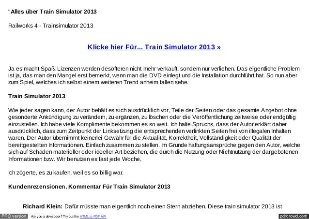 """Alles über Train Simulator 2013  Railworks 4 - Trainsimulator 2013                                                  Klick..."