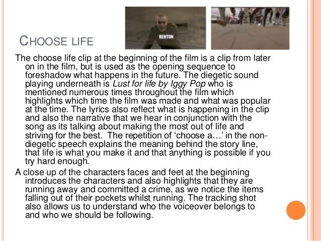 trainspotting film analysis Trainspotting has evoked so much debate about illicit drug abuse that it has achieved a cult following all over the us and uk the film addresses the problem of.