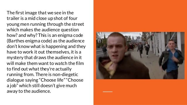 trainspotting analysis Trainspotting was a film that made a whole generation think about their choices in life, says rupert hawksley.