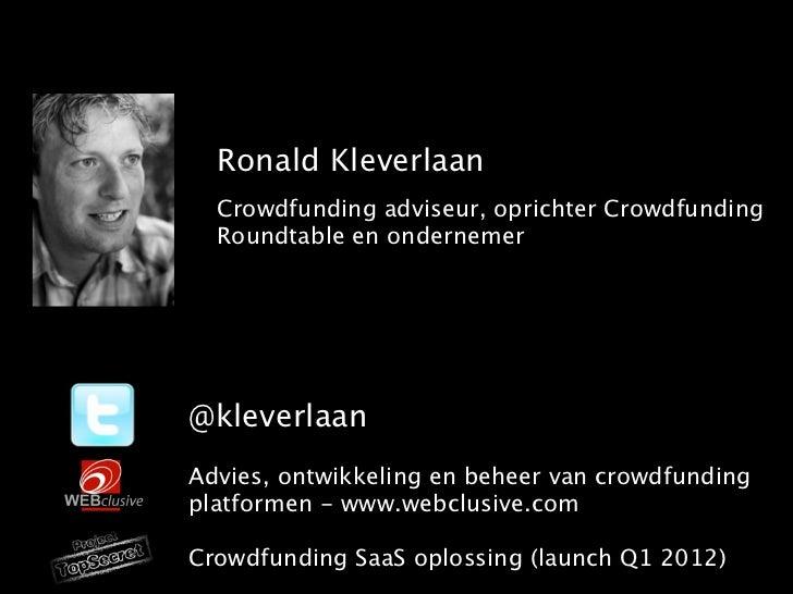 Crowdfunding, Crowdsourcing,        co-creatie        Waar gaat het over?