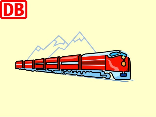 der Zug Der Zug kommt an dem Bahnhof an.