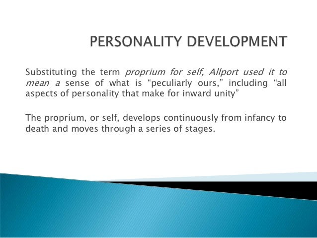 trait approach to personality pdf