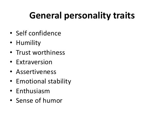 Traits, motives and characteristics of leadership Slide 3