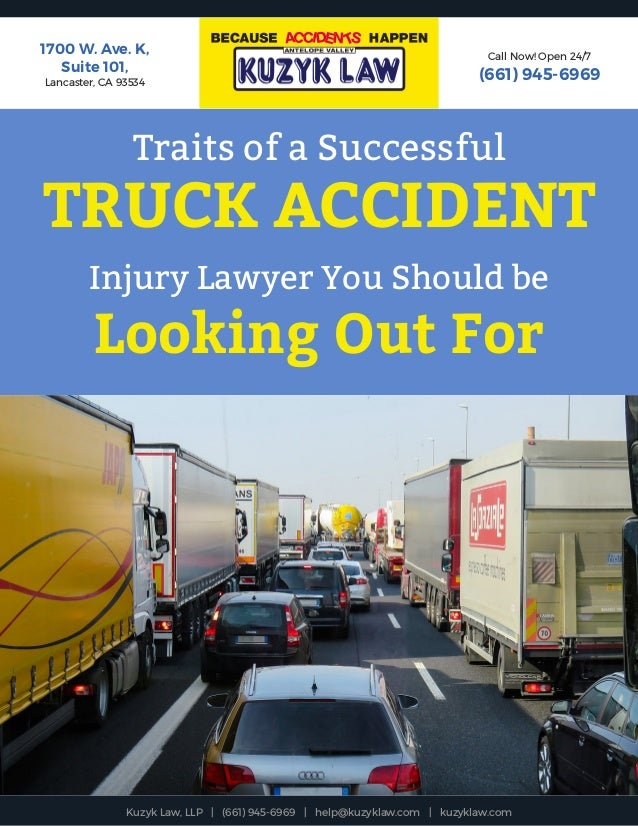 Traits of a Successful Truck Accident Injury Lawyer You