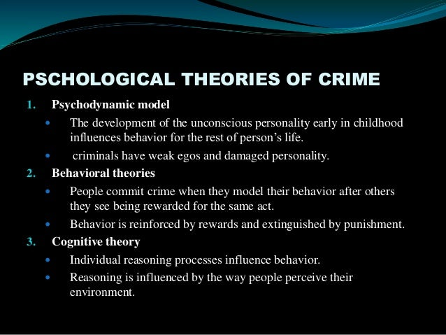"crime theories Theories of crime and delinquency (chapters 6-7) two major types of theories of crime • kinds of people theories – ""what makes a person turn to."
