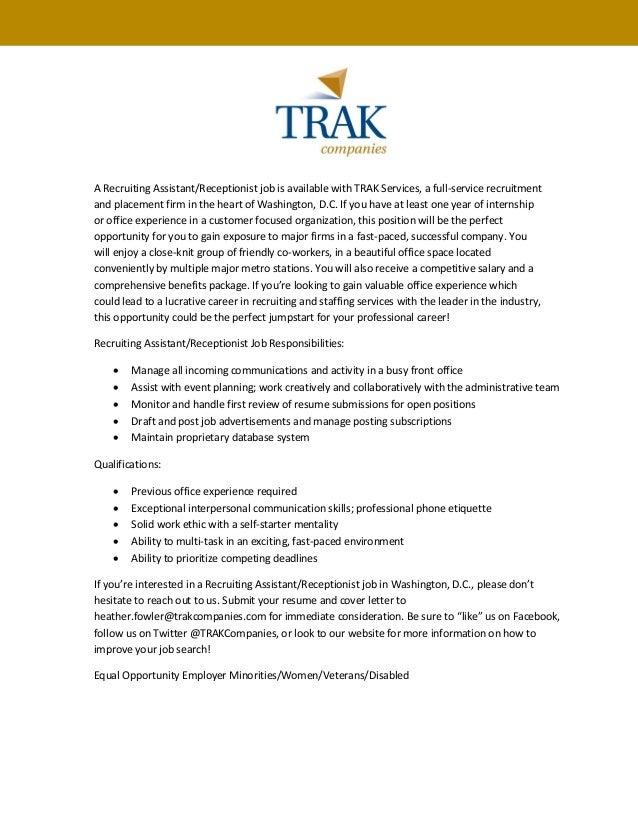 TRAK - Recruiting Assistant