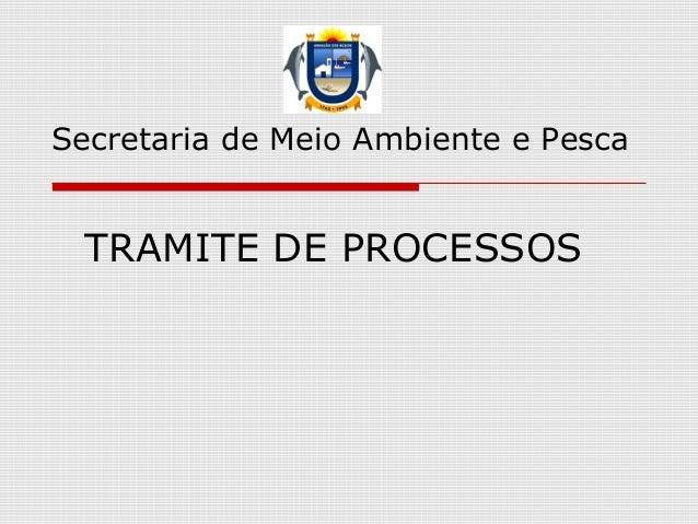 TRAMITE DE PROCESSOS Secretaria de Meio Ambiente e Pesca