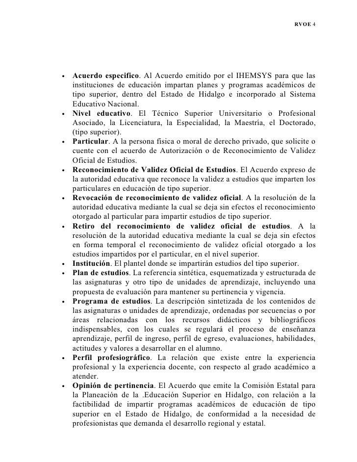 Tramite rvoe ihemsys for Validez acuerdo privado clausula suelo