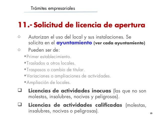 Tramites creaci n empresa - Licencia apertura local madrid ...