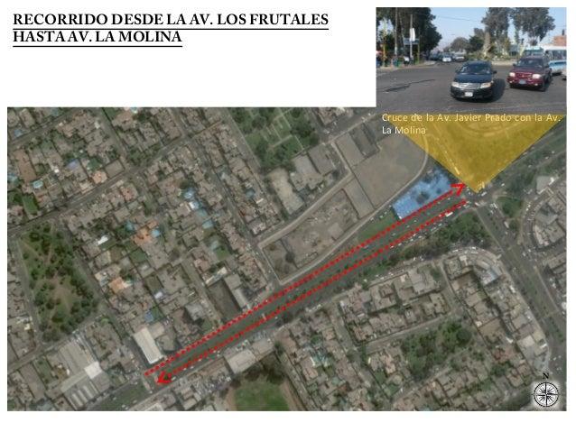 Cruce de la Av. Javier Prado con la Av.  La Molina  N  RECORRIDO DESDE LA AV. LOS FRUTALES  HASTA AV. LA MOLINA