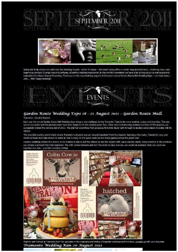 Tramonto Spring news 2011