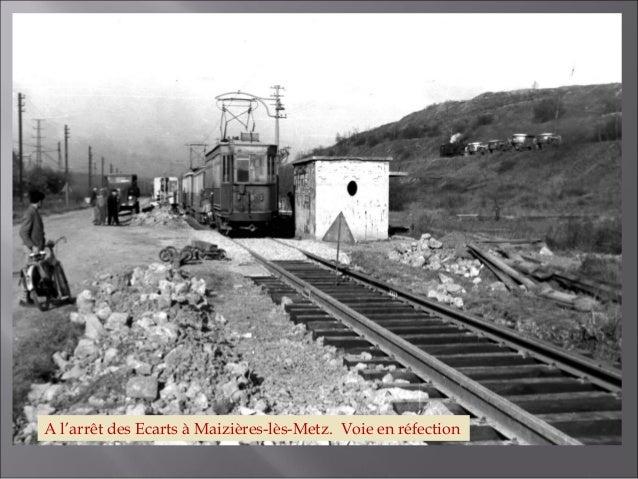 Convoi en approche de l'arrêt N° 13 : Carrefour voie romaine / route de Marange