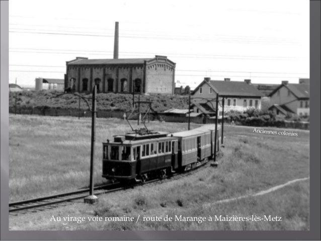 Convoi à l'arrêt «anciennes coloniesVoie romaine/route de Marangeà Maizières-lès-Metz. Hiver 1963/1964