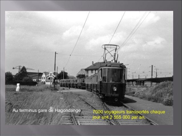 Au terminus de la gare de HagondangeOuvriers, employés, apprentis, écoliers, visiteurs, policiers, gendarmes,ménagères pou...