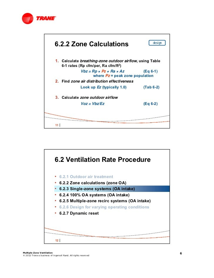Standard 62 1 a vav dynamic reset approach for Table 6 1 minimum ventilation rates in breathing zone