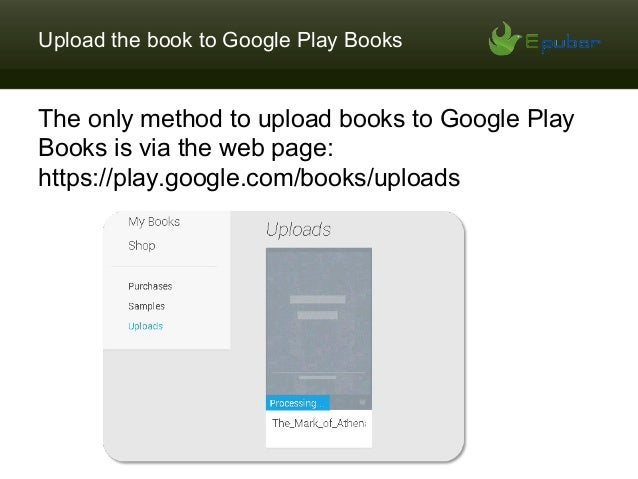 upload epub to google play books