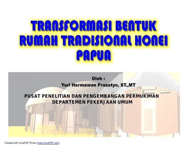PUSAT PENELITIAN DAN PENGEMBANGAN PERMUKIMAN                          DEPARTEMEN PEKERJAAN UMUM     Created with novaPDF P...