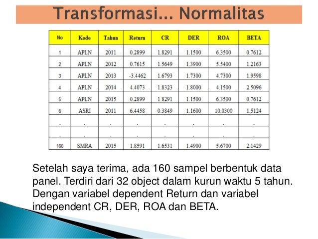 Tranformasi Untuk Data Tidak Normal