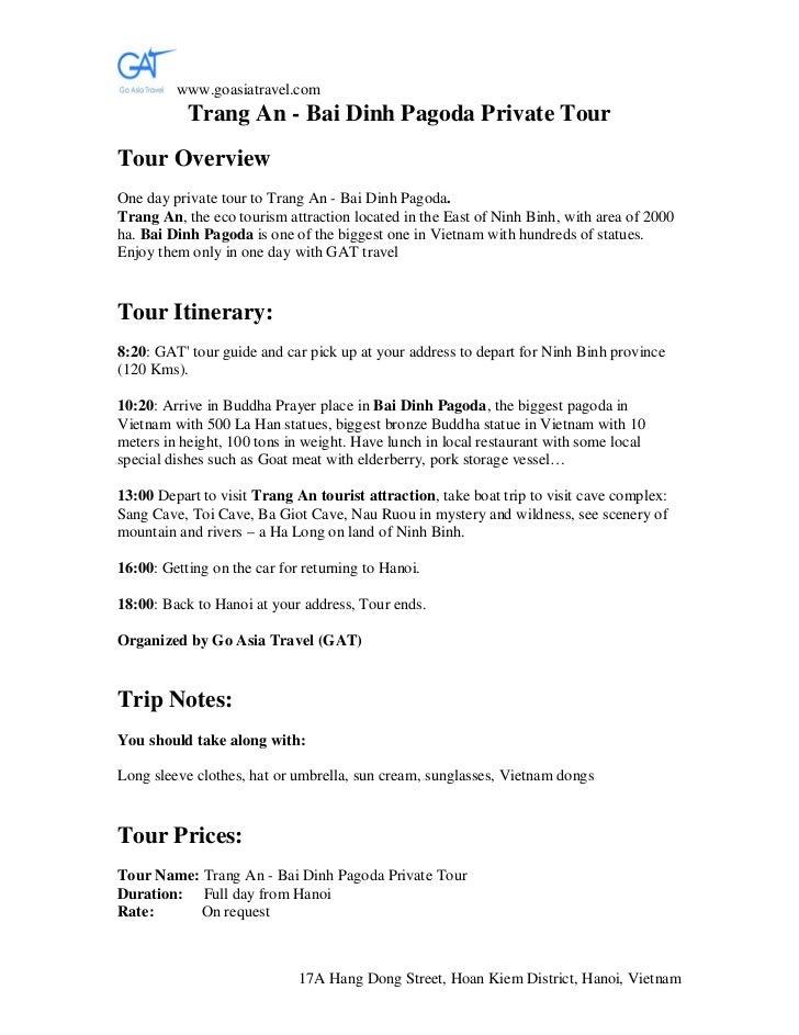 www.goasiatravel.com           Trang An - Bai Dinh Pagoda Private TourTour OverviewOne day private tour to Trang An - Bai ...