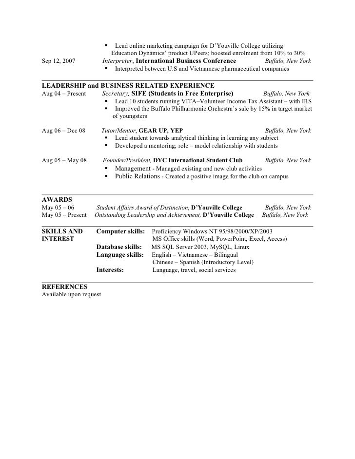 Tags Resume Objective Resume Objective Examples Translator Resume VisualCV  College Resume Objective Examples