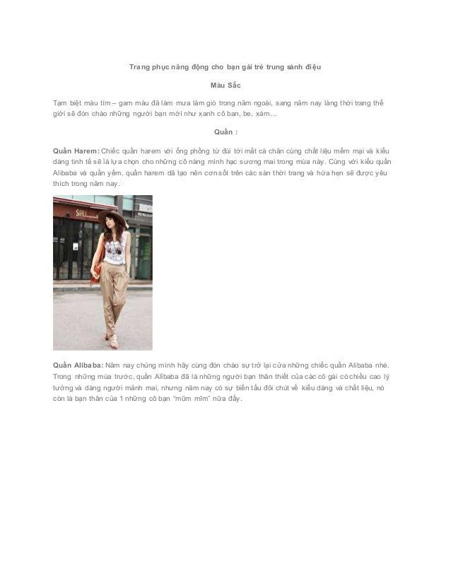 Trang phục năng động cho bạn gái trẻ trung sành điệu Màu Sẵc Tạm biệt màu tím – gam màu đã làm mưa làm gió ...