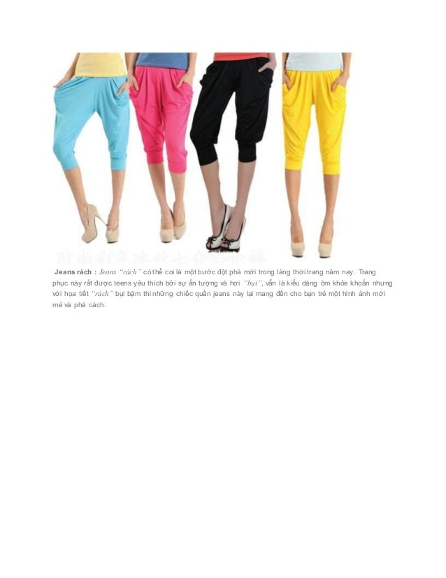 """Jeans rách : Jeans """"rách"""" có thể coi là một bước đột phá mới trong làng thời trang năm nay. Trang phục này rất được ..."""