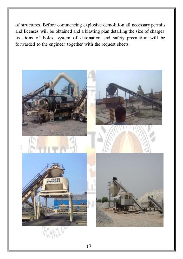 of structures. Before commencing explosive demolition all necessary permits and licenses will be obtained and a blasting p...