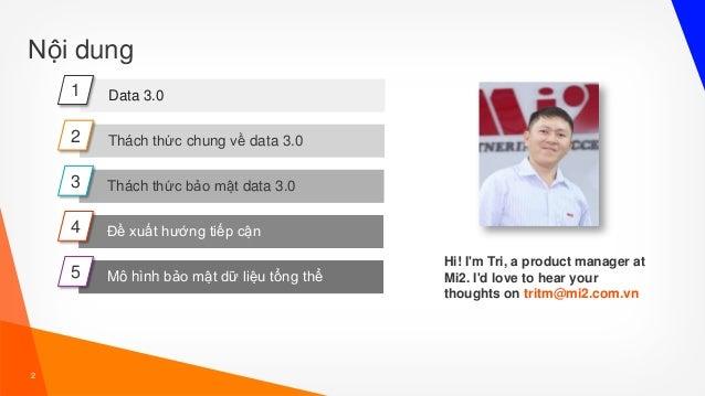 Tran Minh Tri - Bao mat du lieu thoi ky [3.0] Slide 2