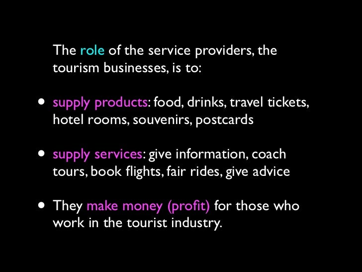 interrelationships in travel and tourism examples