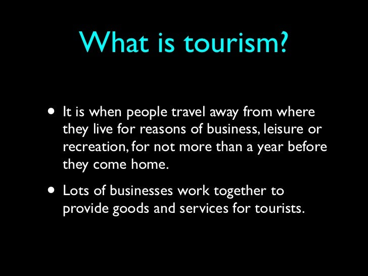 what is tourism pdf