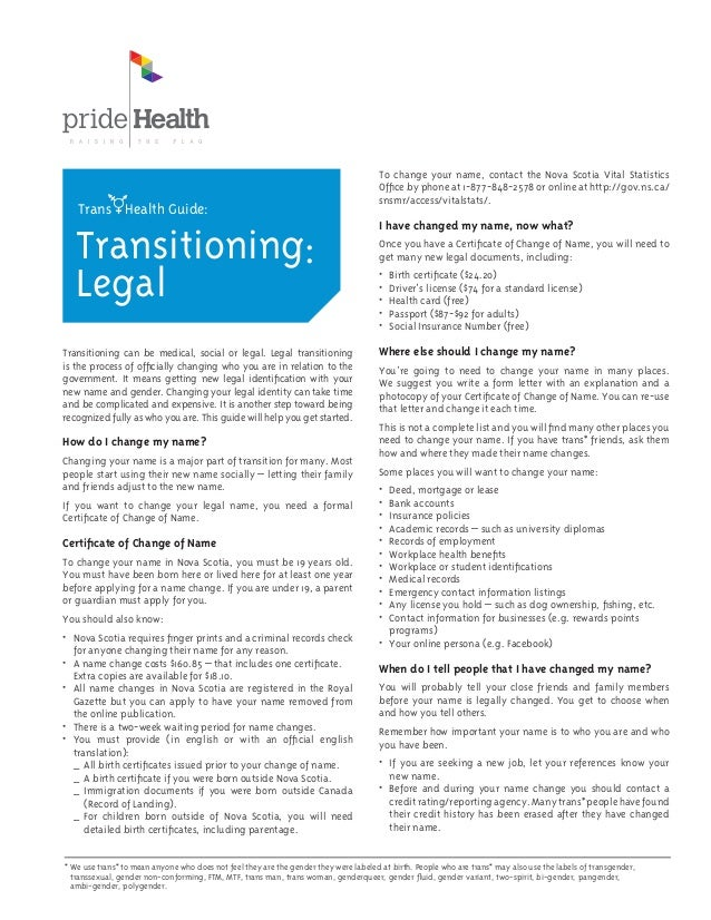 Trans Health Guide Print Version All Sections