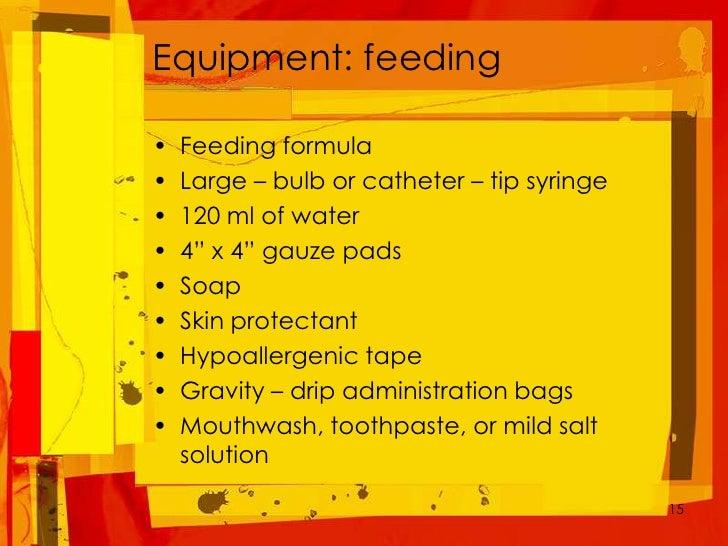 Transabdominal Tube Feeding And Care