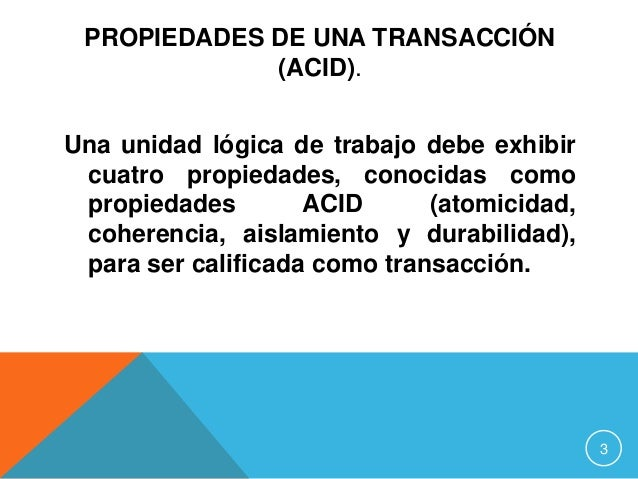 Transacciones  Slide 3