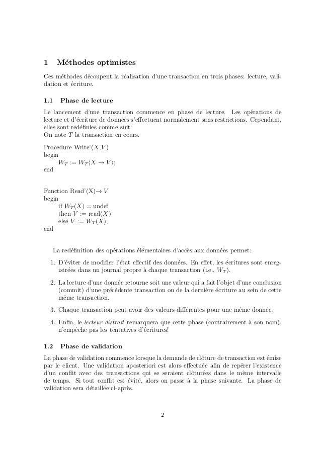 Sérialisation des transactions Slide 2