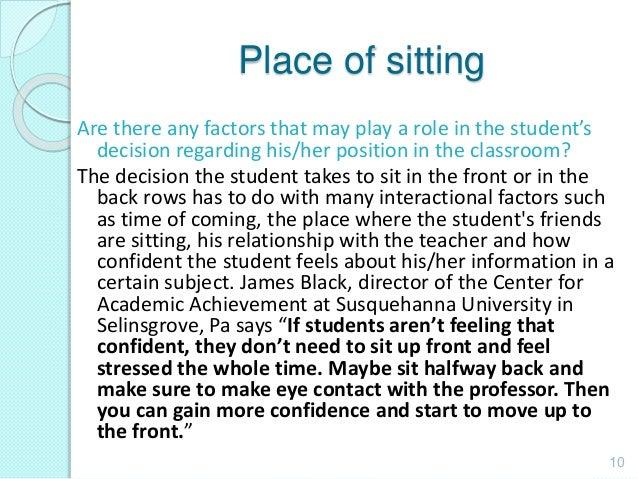 student teacher relationship and academic achievement center