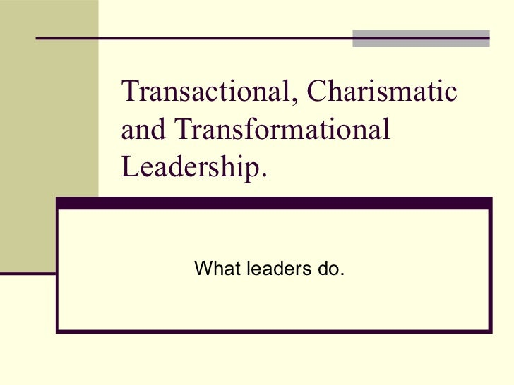 transactional leader and transformational leader Even the top executives in the world have debates about how to lead effectively and i've found there are still some misconceptions around transactional vs transformational leadership.