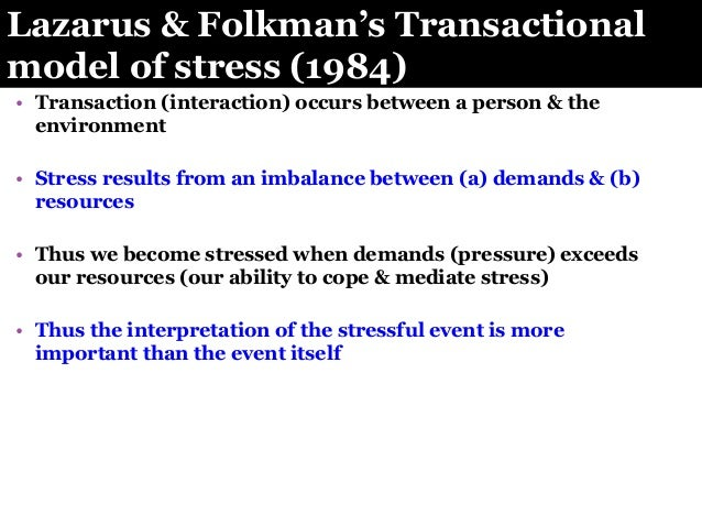 coping skill and lazarus stress theory essay (lazarus & folkman towards a new theory of coping a thorough overview of the field of stress and coping in a easy to comprehend linking text formal.