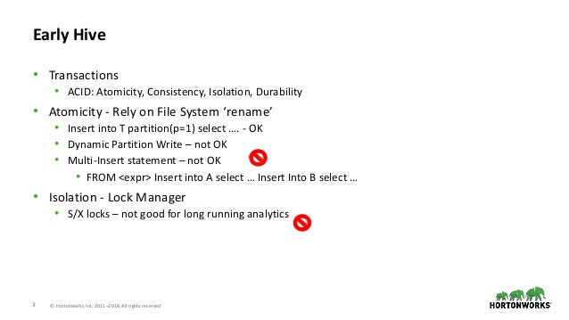Transactional operations in Apache Hive: present and future Slide 3