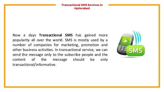 Transactional SMS Services Hyderabad, Transactional Bulk SMS Packages Hyderabad  Slide 2