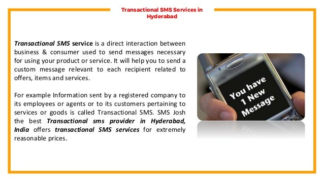 Transactional SMS Services Hyderabad, Transactional Bulk SMS Packages Hyderabad  Slide 3