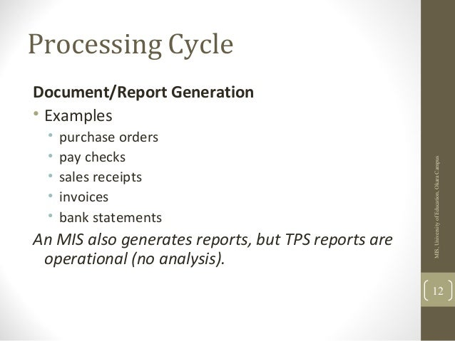 the transaction processing cycle