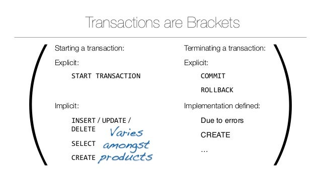 SQL Transactions - What they are good for and how they work Slide 2
