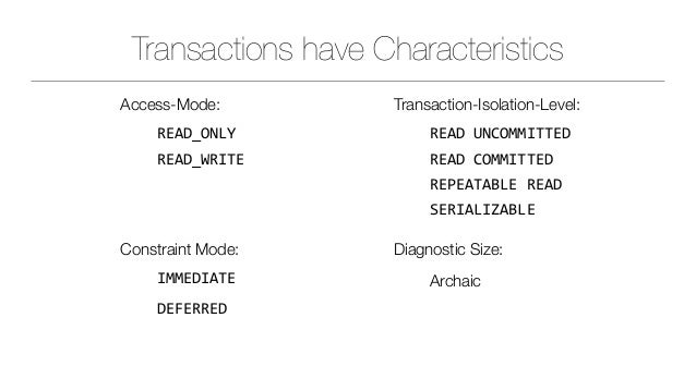 SQL Transactions - What they are good for and how they work Slide 3