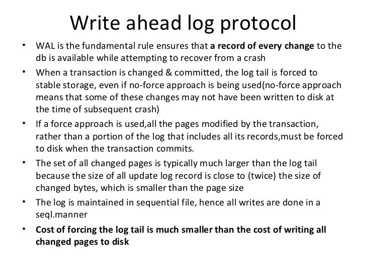 SQL SERVER – Understanding the Basics of Write Ahead Logging (WAL) Protocol