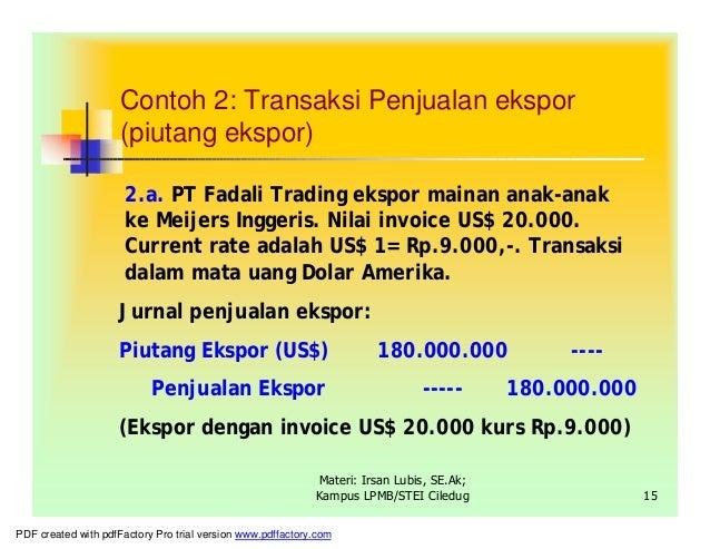 Penjualan mata uang