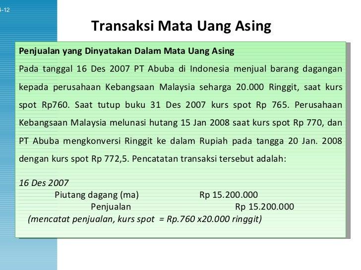 transaksi mata uang asing