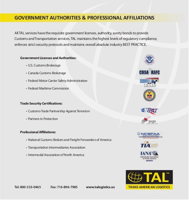 Trans american customs and logistics for Motor carrier permit status