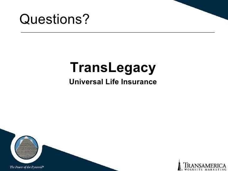 Transamerica universal life insurance